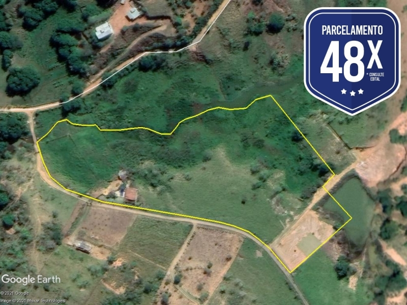 PA69837 - Caratinga/MG - Terreno rural com 02.45,24 hectares - Lance Inicial: R$150.000,00- Avaliação: R$150.000,00